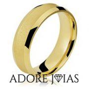 Aliança de Casamento em Ouro 18k Márcia