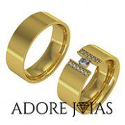 Aliança de Casamento em Ouro 18k Miami