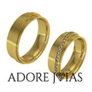 Aliança de Casamento em Ouro 18k Mônaco
