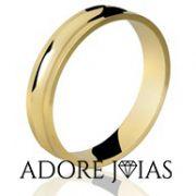 Aliança de Casamento em Ouro 18k Mônica