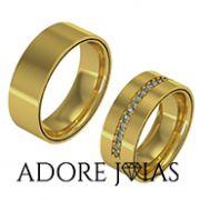Aliança de Casamento em Ouro 18k Montreal