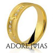 Aliança de Casamento em Ouro 18k Raísa