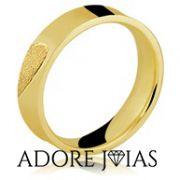 Aliança de Casamento em Ouro 18k Rosana