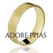Aliança de Casamento em Ouro 18 k Safira