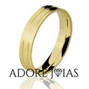 Aliança de Casamento em Ouro 18k Sara