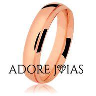 Aliança de Casamento em Ouro 18k Verônica