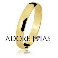 Aliança de Casamento em Ouro 18k Victória