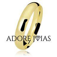 Aliança de Casamento em Ouro 18k Virgínia