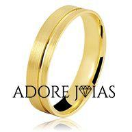 Aliança de Casamento em Ouro 18k Vivan