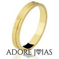 Aliança de Casamento em Ouro 18 k Debora