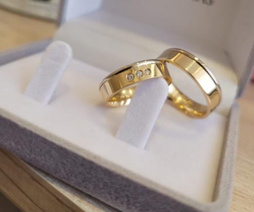Aliança de Casamento em Ouro 18 k Dream