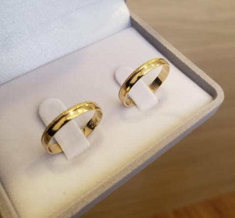 Aliança de Casamento em Ouro 18 k Érica