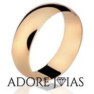 Aliança de Casamento em Ouro 18 k Alibaba