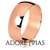 Aliança de Casamento em Ouro 18 k Andressa