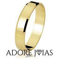 Aliança de Casamento em Ouro 18 k Anne