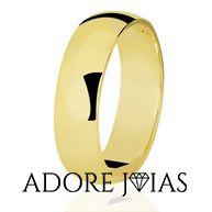 Aliança de Casamento em Ouro 18 k Ashley