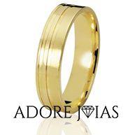 Aliança de Casamento em Ouro 18 k Betina