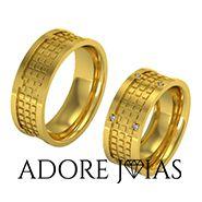 Aliança de Casamento em Ouro 18 k Boston