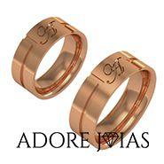 Aliança de Casamento em Ouro 18 k Caribe