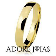 Aliança de Casamento em Ouro 18 k Caroline