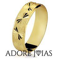 Aliança de Casamento em Ouro 18 k Catarina