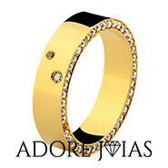 Aliança de Casamento em Ouro 18 k Chile
