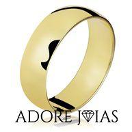 Aliança de Casamento em Ouro 18 k Cleide