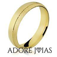 Aliança de Casamento em Ouro 18 k Cristiana