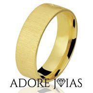 Aliança de Casamento em Ouro 18 k Daniela