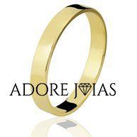 Aliança de Casamento em Ouro 18k Esther