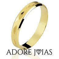 Aliança de Casamento em Ouro 18k Graziela