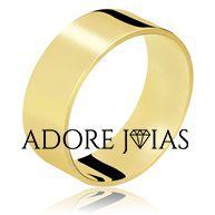 Aliança de Casamento em Ouro 18k Hilary