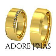 Aliança de Casamento em Ouro 18k Irlanda