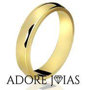 Aliança de Casamento em Ouro 18k Istambul