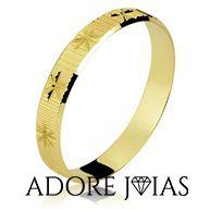 Aliança de Casamento em Ouro 18k Janaina