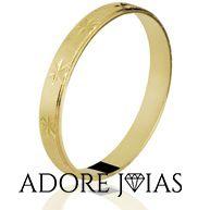 Aliança de Casamento em Ouro 18k Kátia