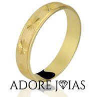 Aliança de Casamento em Ouro 18k Lavínia