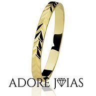 Aliança de Casamento em Ouro 18k Letícia