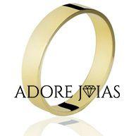 Aliança de Casamento em Ouro 18k Lívia