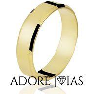 Aliança de Casamento em Ouro 18k Lorena