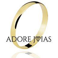 Aliança de Casamento em Ouro 18k Luísa