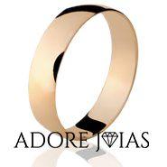 Aliança de Casamento em Ouro 18k Madrid