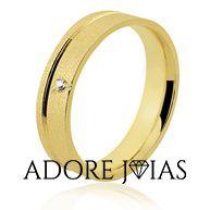 Aliança de Casamento em Ouro 18k Marjorie