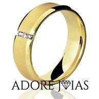 Aliança de Casamento em Ouro 18k Mel