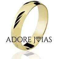 Aliança de Casamento em Ouro 18k Milena