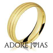Aliança de Casamento em Ouro 18k Nilo