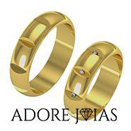 Aliança de Casamento em Ouro 18k Nova York