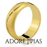 Aliança de Casamento em Ouro 18k Olívia
