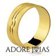 Aliança de Casamento em Ouro 18k Pamela