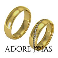 Aliança de Casamento em Ouro 18k Punta Cana